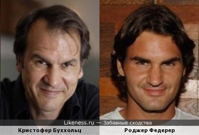 Кристофер Буххольц и Роджер Федерер