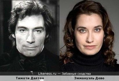 Тимоти Далтон и Эммануэль Дево