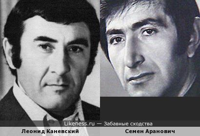 Леонид Каневский и Семен Аранович