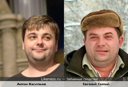 Антон Васильев из команды КВН Прима Курск похож на актёра Евгения Сытого