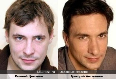 Евгений Цыганов похож на Григория Антипенко