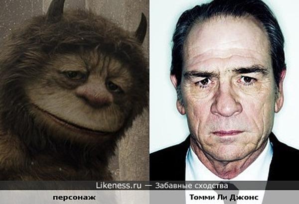 """Томми ли Джонс похож на персонажа фильма """"Там, где живут чудовища"""" (особенно глаза!)"""
