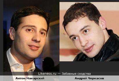 Антон Макарский и Андрей Черкасов похожи
