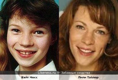 Кейт Мосс в детстве напомнила Лили Тэйлор