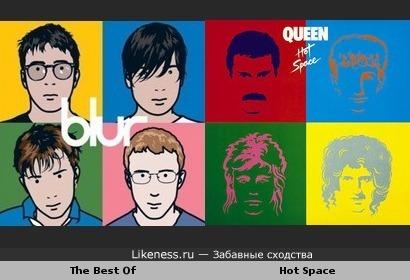 "Обложки альбомов Blur ""The Best Of"" и Queen ""Hot Space"" похожи"
