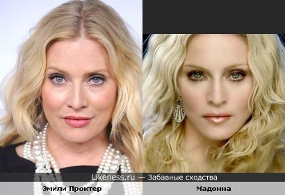 Эмили Проктер (Место преступления: Майами/CSI) и Мадонна