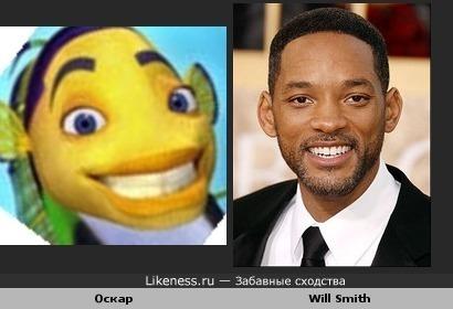"""Оскар из мультфильма """"Подводная братва"""" похож на Вил Смита"""