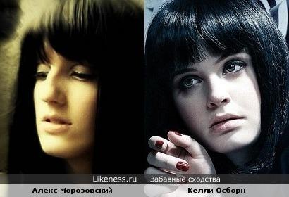Алекс Морозовский похож на Келли Осборн