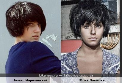 Алекс Морозовский похож на Юлию Волкову
