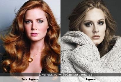 Эми Адамс и Адель похожи