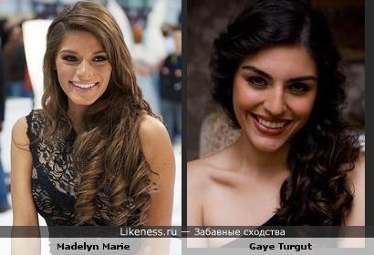 Madelyn Marie похож на Gaye Turgut
