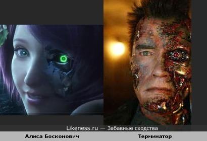 "Alisa Bosconovitch: ""I'll be back"" или кадр из м/ф ""Теккен: Кровная месть"" напомнили фильм ""Терминатор""(Bred!)"