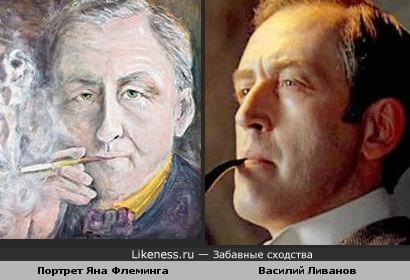 Портрет Яна Флеминга, создателя Джеймса Бонда, напоминает слегка Василия Ливанова(к Дню Рождения писателя)