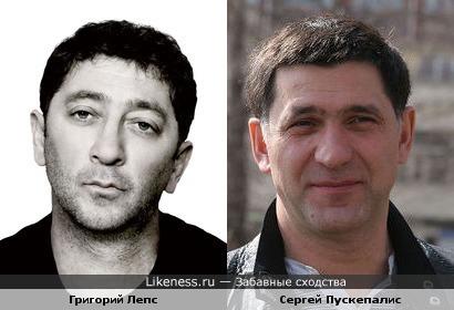 Григорий Лепс похож на актёра Сергея Пускепалиса