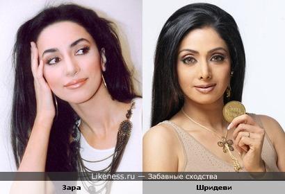 Певица Зара похожа на индийскую актрису Шридеви