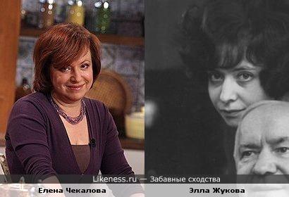 Елена Чекалова имеет однин типаж с Эллой Жуковой, дочкой Г.К.Жукова