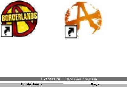 Ярлык от игры Borderlands похож на ярлык от игры Rage