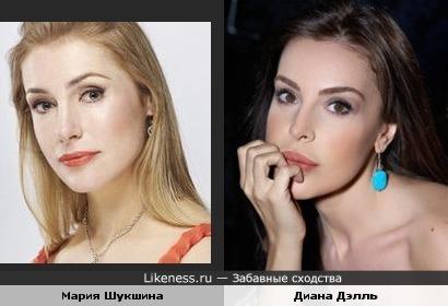 Актрисы Мария Шукшина и Диана Дэлль