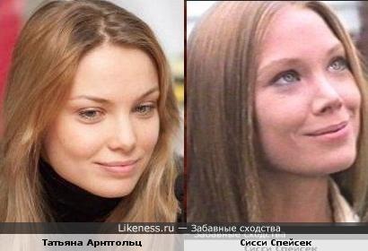 Актрисы Сисси Спейсек и Татьяна Арнтгольц