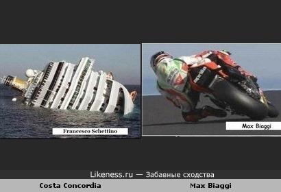 Costa Concordia и Max Biaggi