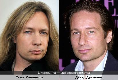 Финский вокалист Тимо Котипелто похож на Дэвида Духовны