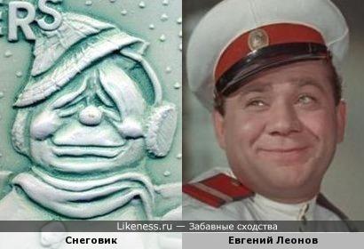 Снеговичок напомнил Евгения Леонова