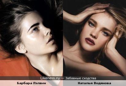Барбара Пэлвин похожа на Наталью Водянову
