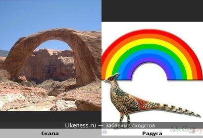 Скала-радуга