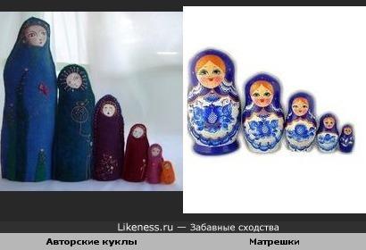 Куклы напоминают матрешек