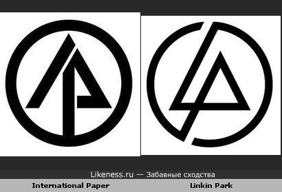 Логотип International Paper похож на логотип Linkin Park