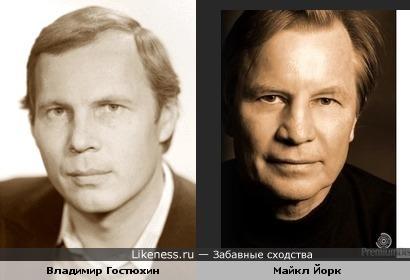 Владимир Гостюхин напоминает актера Майкла Йорка