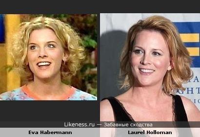 Eva Hapermann похожа на Laurel Holloman
