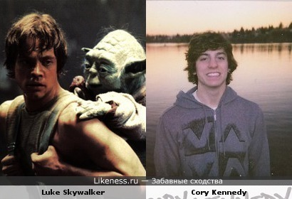 Luke Skywalker and Cory Kennedy