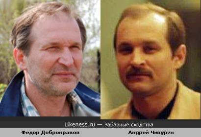 Федор Добронравов похож на Андрея Чивурина