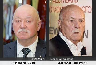 Кипрас Мажейка и Станислав Говорухин