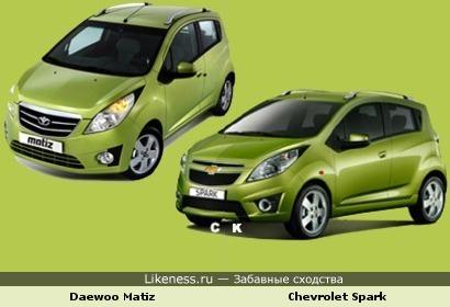 Daewoo Matiz и Chevrolet Spark
