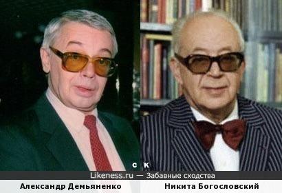 Александр Демьяненко и Никита Богословский