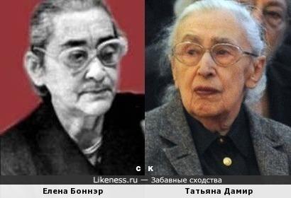 Елена Боннэр и Татьяна Дамир