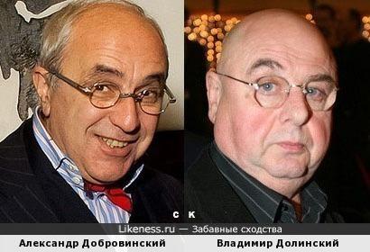 Александр Добровинский и Владимир Долинский