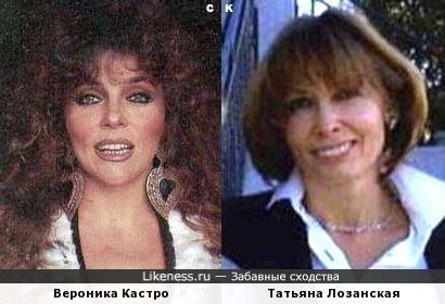 Вероника Кастро и Татьяна Лозанская