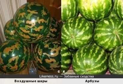 Воздушные шары и Арбузы