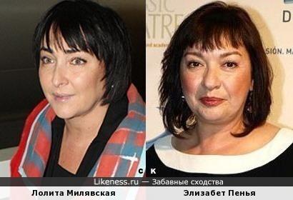 Лолита Милявская и Элизабет Пенья