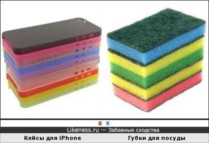 Кейсы для iPhone и Губки для посуды