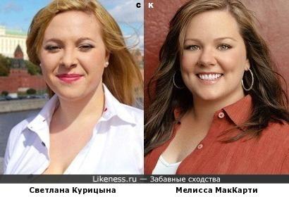 Светлана Курицына и Мелисса МакКарти