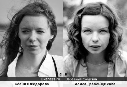Ксения Фёдорова и Алиса Гребенщикова