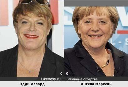 Эдди Иззард и Ангела Меркель
