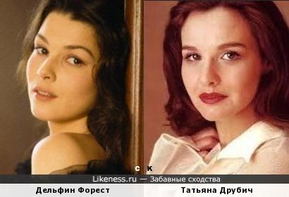 Дельфин Форест и Татьяна Друбич