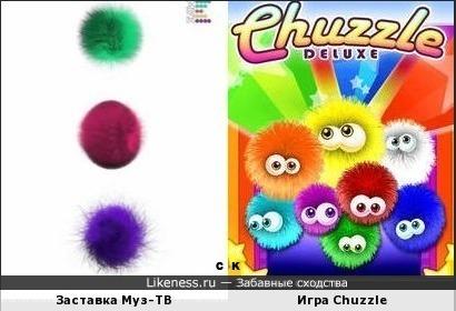 Заставка Муз-ТВ и Игра Chuzzle