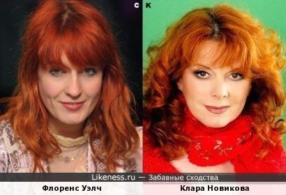 Флоренс Уэлч и Клара Новикова