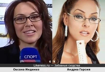 Оксана Инденко и Андреа Гарсия